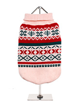 Oyster Pink Fair Isle Vintage Sweater - We're constantly inspired by heritage designs not only from Britain but also from Scandinavia, especially when those designs are in style as they are this season. A high turtle neck and elasticated sleeves make this sweater extra cosy and the vibrant pattern will brighten up even the greyest of days...