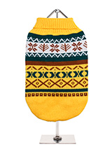 Yellow Fair Isle Vintage Sweater - We're constantly inspired by heritage designs not only from Britain but also from Scandinavia, especially when those designs are in style as they are this season. A high turtle neck and elasticated sleeves make this sweater extra cosy and the vibrant pattern will brighten up even the greyest of days...