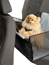 Rear Car Seat Dog Cradle - Not all dogs make good front seat passengers so our rear car seat dog cradle is a great solution. This dog cradle folds flat so that you can keep it in the car at all times. It takes minutes to attach to any seat and a dog Seat belt restraint is available to purchase as an added accessory. This will...