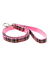 Pink Tartan Fabric Lead - Here at Urban Pup our design team understands that everyone likes a coordinated look. So we added a Pink Tartan Fabric Lead to match our Pink Tartan Harness, Bandana and collar. This lead is lightweight and incredibly strong.