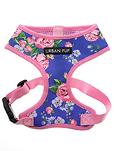 Pink / Blue Floral Burst Harness - Our Floral Burst Harness is a rich contemporary style and the floral pattern is right on trend. It is lightweight and incredibly strong. Designed by Urban Pup to provide the ultimate in comfort, safety and style. It features a breathable material for maximum air circulation that helps prevent your d...
