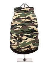 Forest Camouflage Bodywarmer - Our Forest Camouflage Bodywarmer is perfect for the dog that likes a bit of rough and tumble but also great for the owner who likes to step out in style. Military style clothing never goes out of fashion so your dog is always going to look the part in this robust but warm and comfortable bodywarmer....