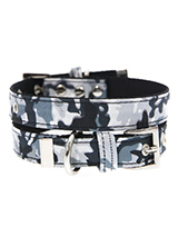 Urban Camouflage Collar - If you have an action boy or girl this Urban Grey Camouflage Collar will be right up their street. It is lightweight and incredibly strong. The collar has been finished with chrome detailing including the eyelets and tip of the collar. A matching lead, harness and bandana are available to purchase s...