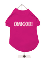 Legally Blonde ''OMIGOD!'' Dog T-Shirt - If you want the authentic Legally Blonde look then this OMIGOD! t-shirt is the one for your four legged friend. With this beautiful design you can create your very own West End doggie star to be a part of this all singing, all dancing, feel good musical comedy. Match it up with our ladies t-shirt fo...