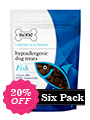 Six Pack - 80% Freshly Prepared Fish Hypoallergenic Dog Treats (6 x 200g packs)