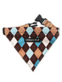 Brown & Blue Argyle Bandana