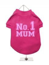 ''Mothers Day: No. 1 Mum'' Dog T-Shirt