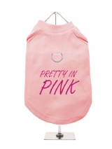PRETTY IN | PINK - Harness-Lined Dog T-Shirt