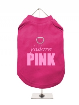 J'ADORE | PINK - Harness-Lined Dog T-Shirt