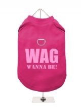WAG | WANNA BE! - Harness-Lined Dog T-Shirt